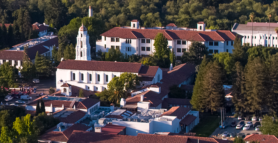 Ariel view of campus