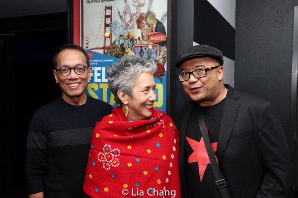 Composer Fabian Obispo, playwright Jessica Hagedorn, author Professor Lysley Tenorio, who wrote the short story the musical is based on.