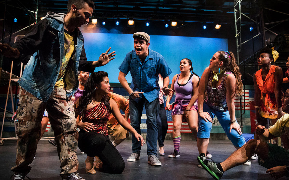 """Students perform last spring in Lin-Manuel Miranda's first musical """"In the Heights"""" at Saint Mary's."""