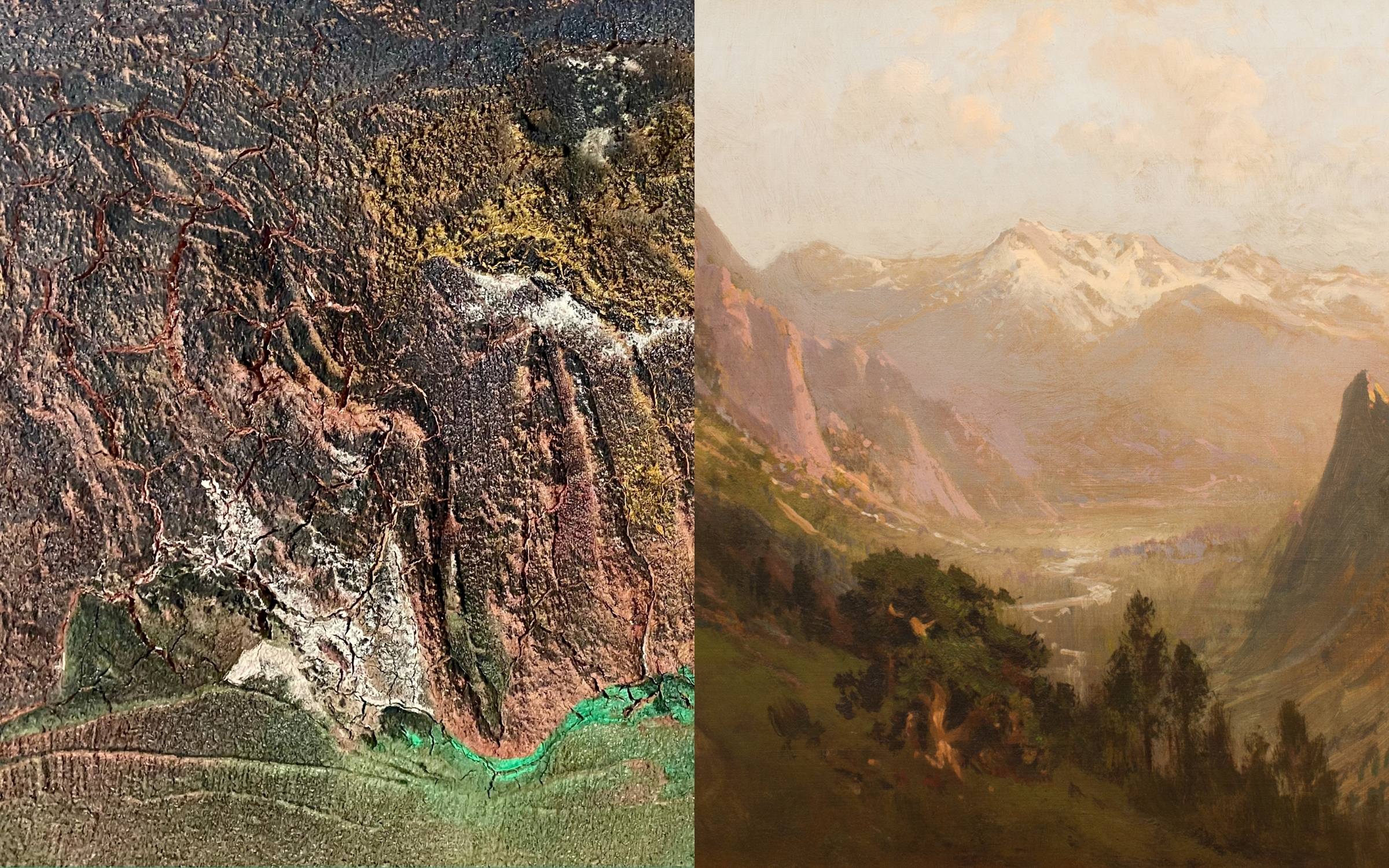 Two paintings of landscapes