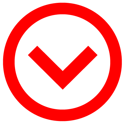 down arrow red icon