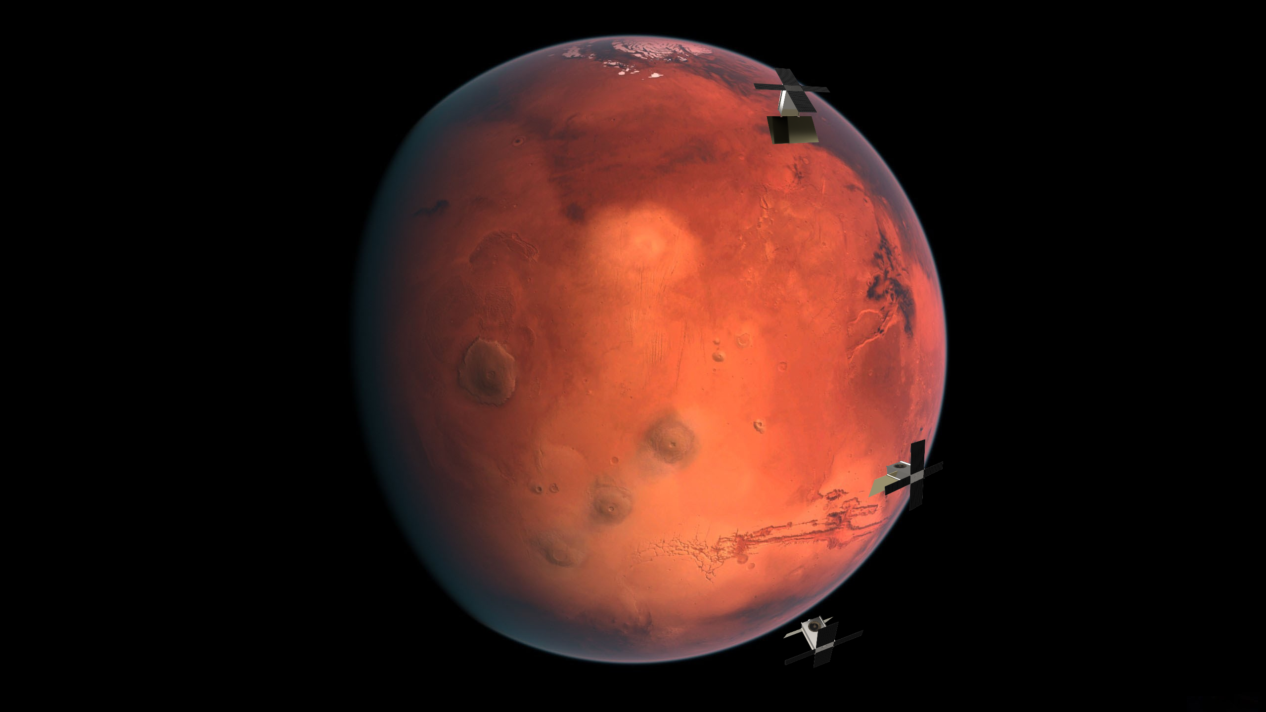 Photo rendering of the planet Mars