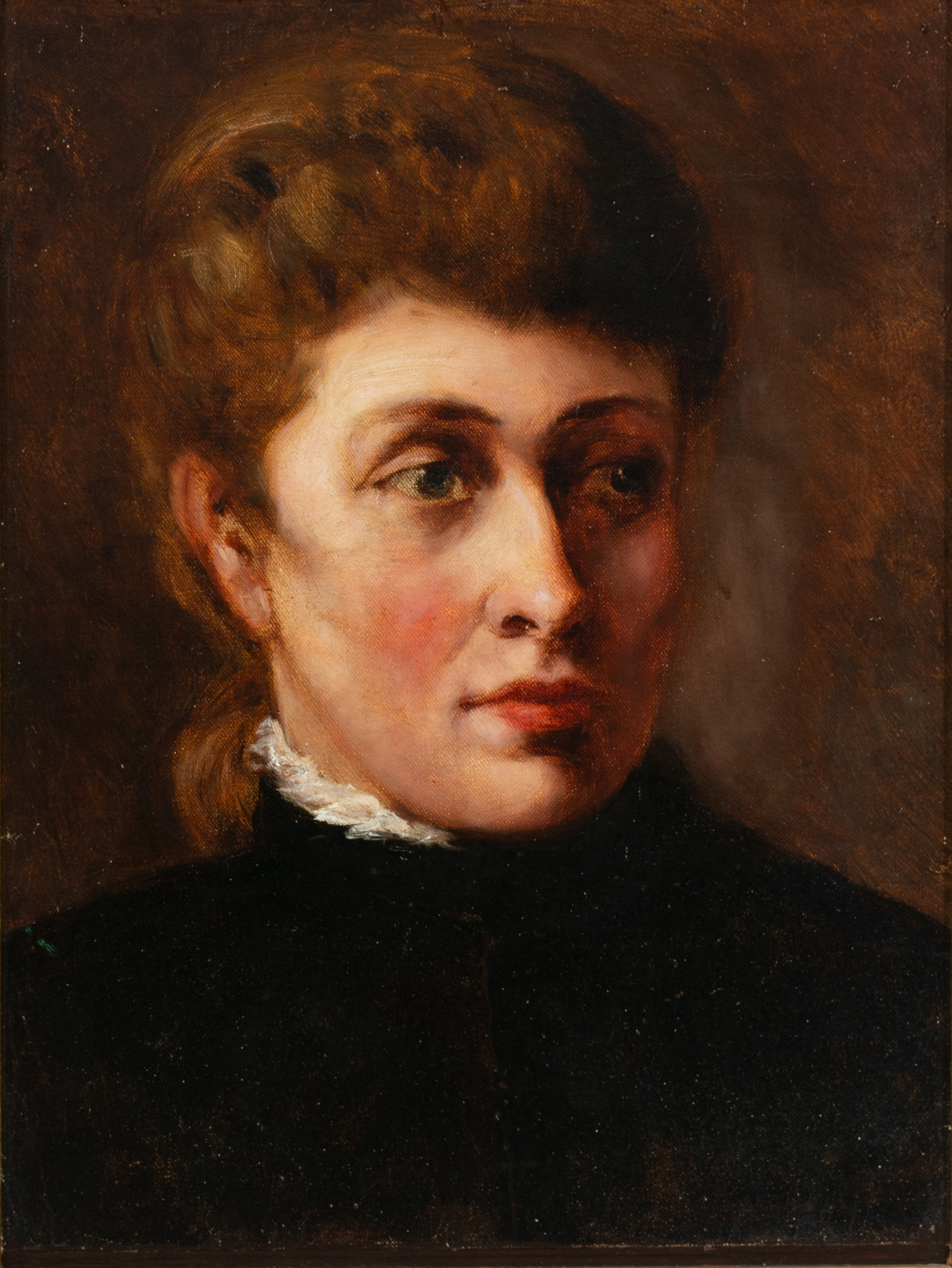 Carrie Anderson (1858-1945) Mary McHenry Keith, n.d., oil on board, 15 x 12 ¼ inches, Saint Mary's College Museum of Art Permanent Collection, 0-20