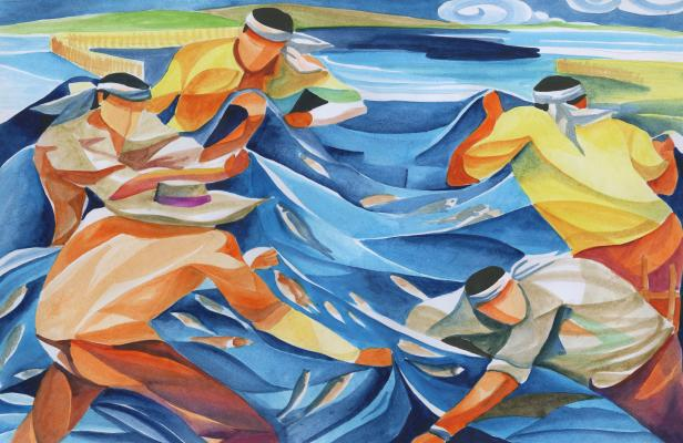 "Fishermen at Work"" by Jerrika Shi (17), International Grand Prize Winner, Manila, Philippines(c) 2014 River of Words"