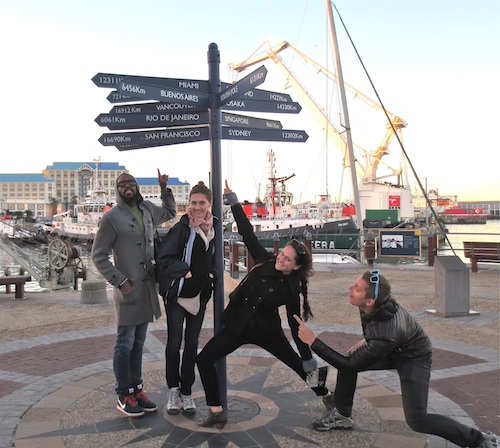 LEAP teachers having fun at the Waterfront in Cape Town!
