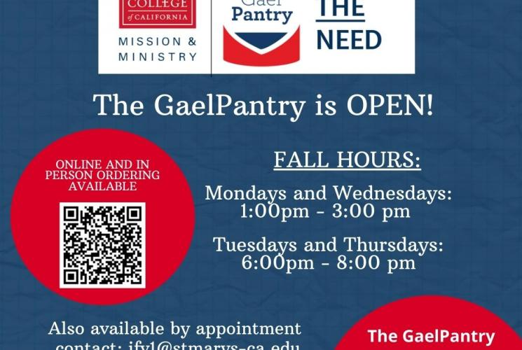 The GaelPantry is open!