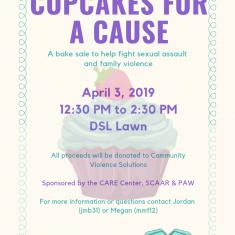 Image for Cupcakes for a Cause! - Sexual Assault Awareness Month Kick Off Event