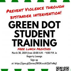 Image for Green Dot Bystander Intervention Training