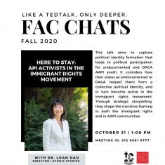 Image for FAC CHATS with Dr. Loan Dao
