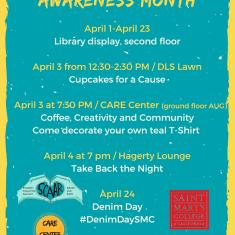 Image for Sexual Assault Awareness Month (SAAM) - April Events
