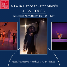 Image for MFA in Dance Virtual Open House