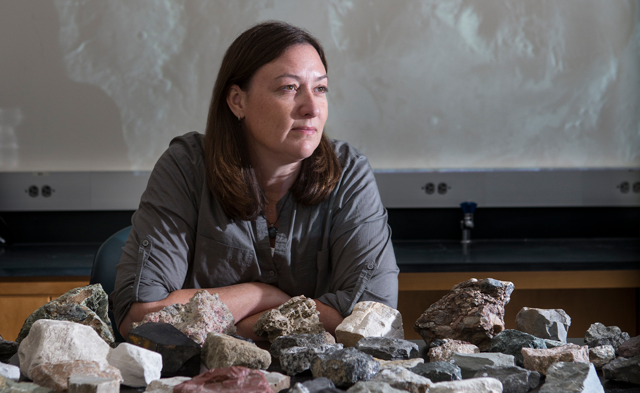 Professor of Geological Sciences Alice Baldridge has been selected to participate in a NASA research project studying the Moon, near-Earth asteroids, and Mars.