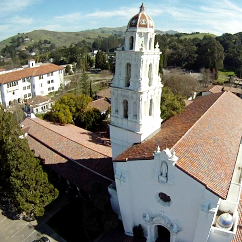 View from a quadcopter.