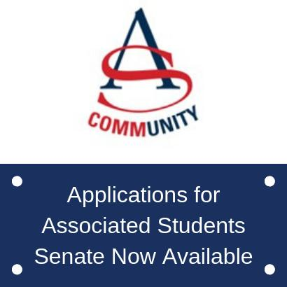 Pick up your application for Associated Student's Senate Now!