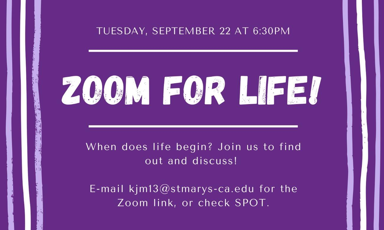 Zoom for Life!