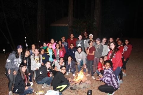 Living it up by the fire, Diversity Retreat 2017