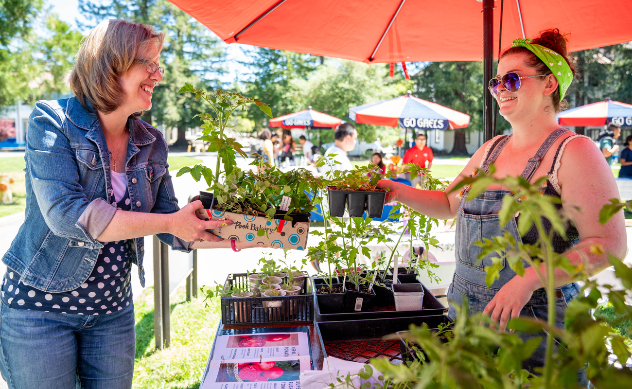 Saint Mary's students held a sustainability fair on Earth Day in 2019.