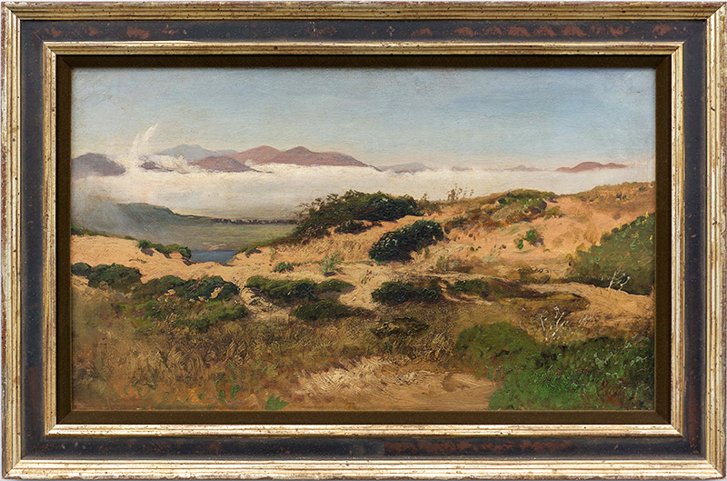 William Keith, Sand Dunes and Fog, San Francisco, c. 1880,  oil on canvas. Collection of Saint Mary's College of California